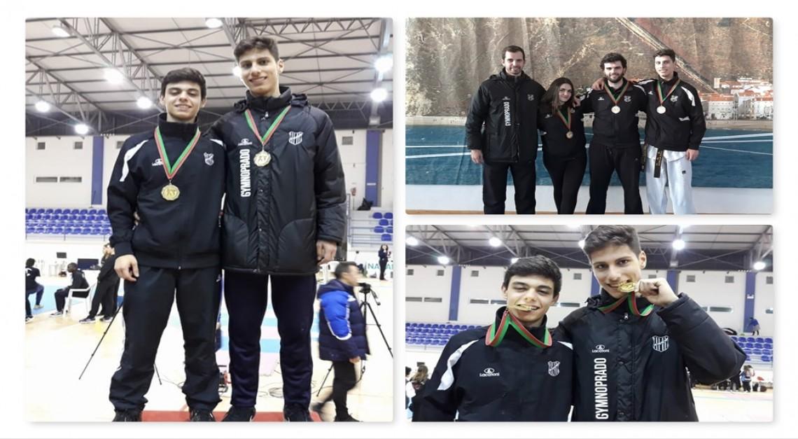Taekwondo: GD Prado regressou da Nazaré com cinco medalhas e dois campeões nacionais!