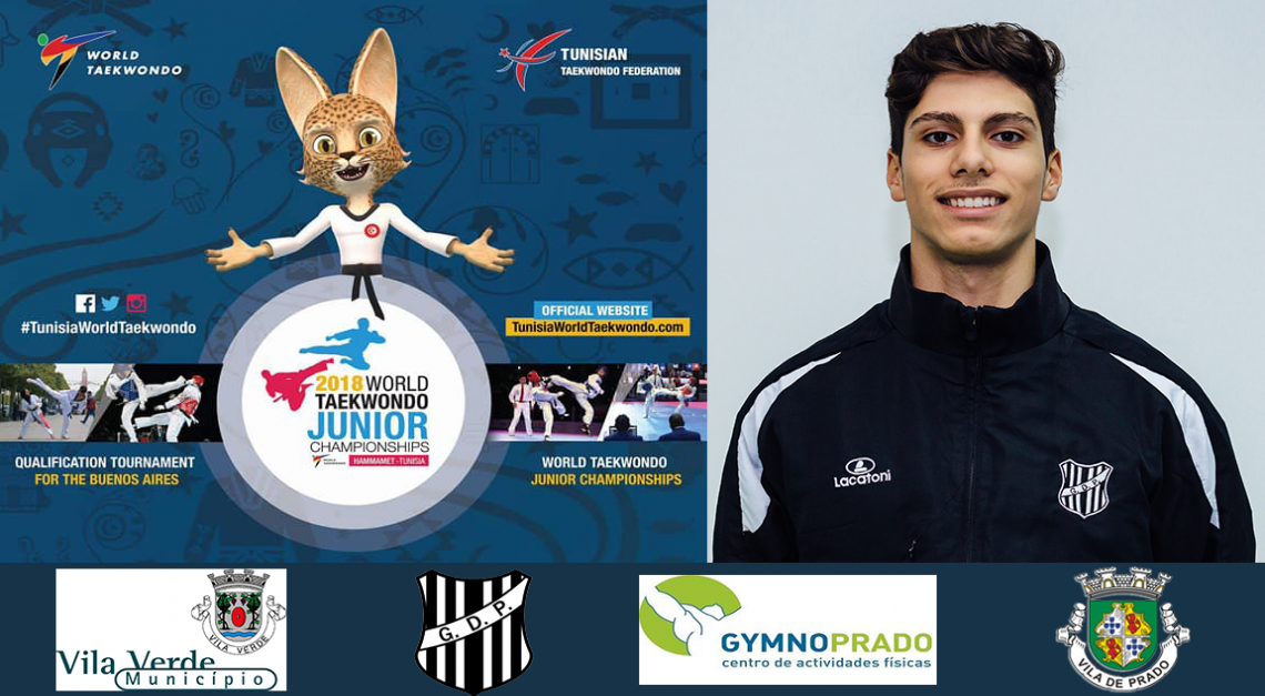 GD Prado: Tiago Alves foi 9º classificado no Campeonato do Mundo de Taekwondo de Juniores