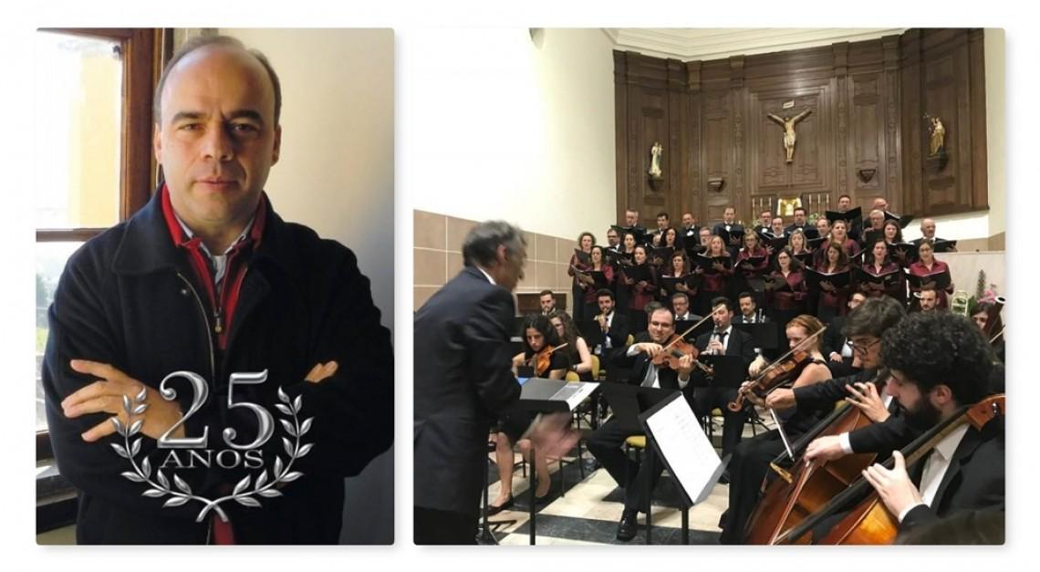 Concerto Coral Sinfónico no arranque das celebrações das Bodas de Prata Sacerdotais do Padre João Alberto Correia!