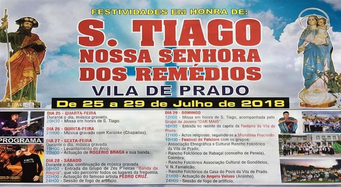 25 a 29 de julho. Vila de Prado celebra as Festas em Honra de S. Tiago e Nossa Senhora dos Remédios!