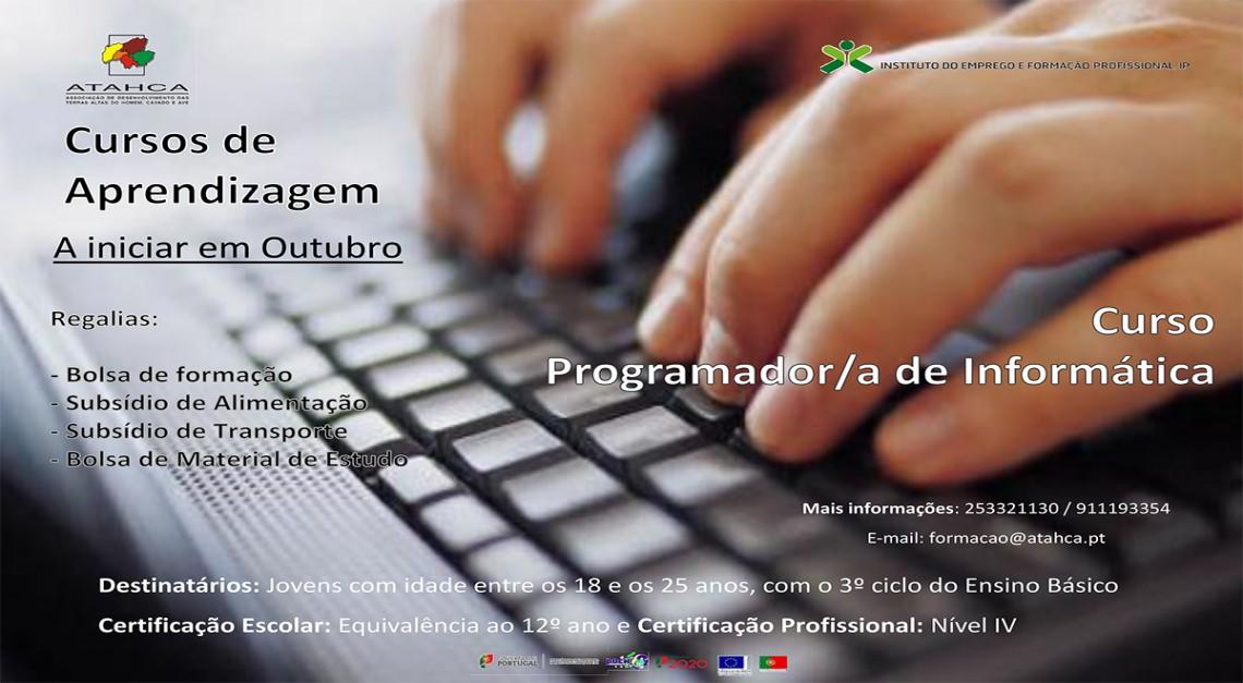 ATAHCA: Inscrições abertas para Curso de Programador/a de Informática