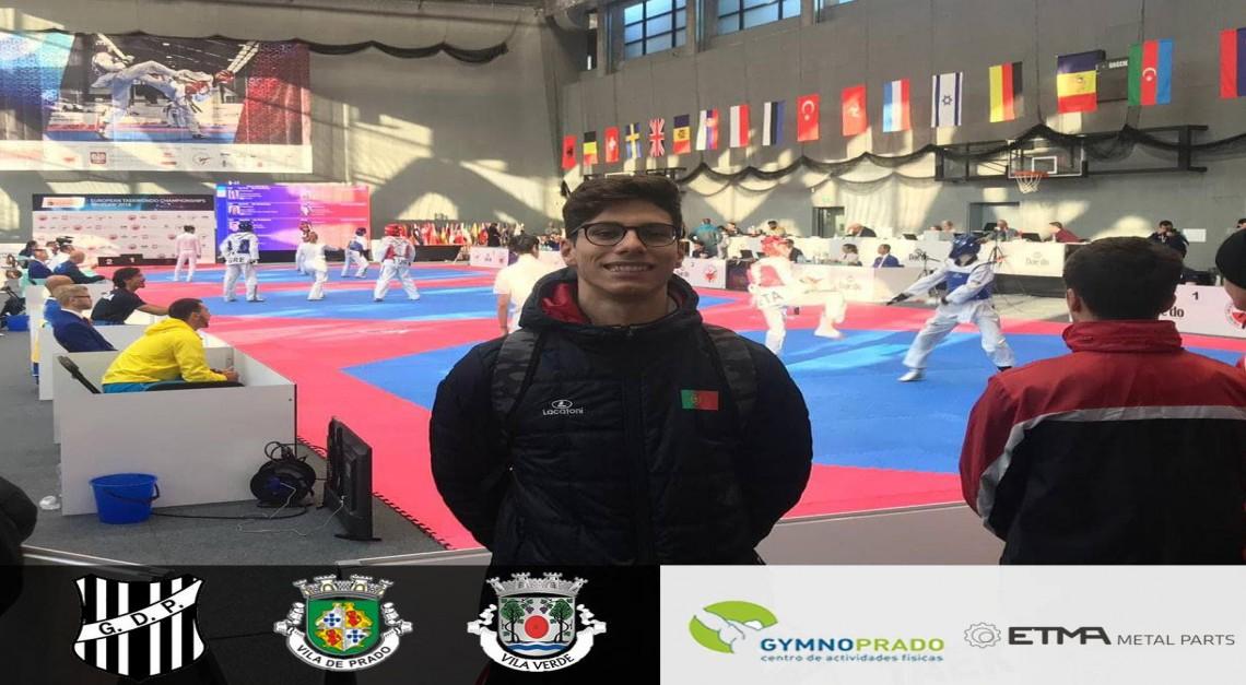 Taekwondo GD Prado. Tiago Alves entre os melhores sub-21 da Europa!