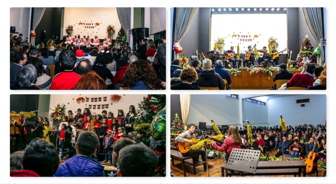 Chuvas de aplausos e banho de multidão nos dois primeiros concertos de Natal da Escola de Música de Prado!