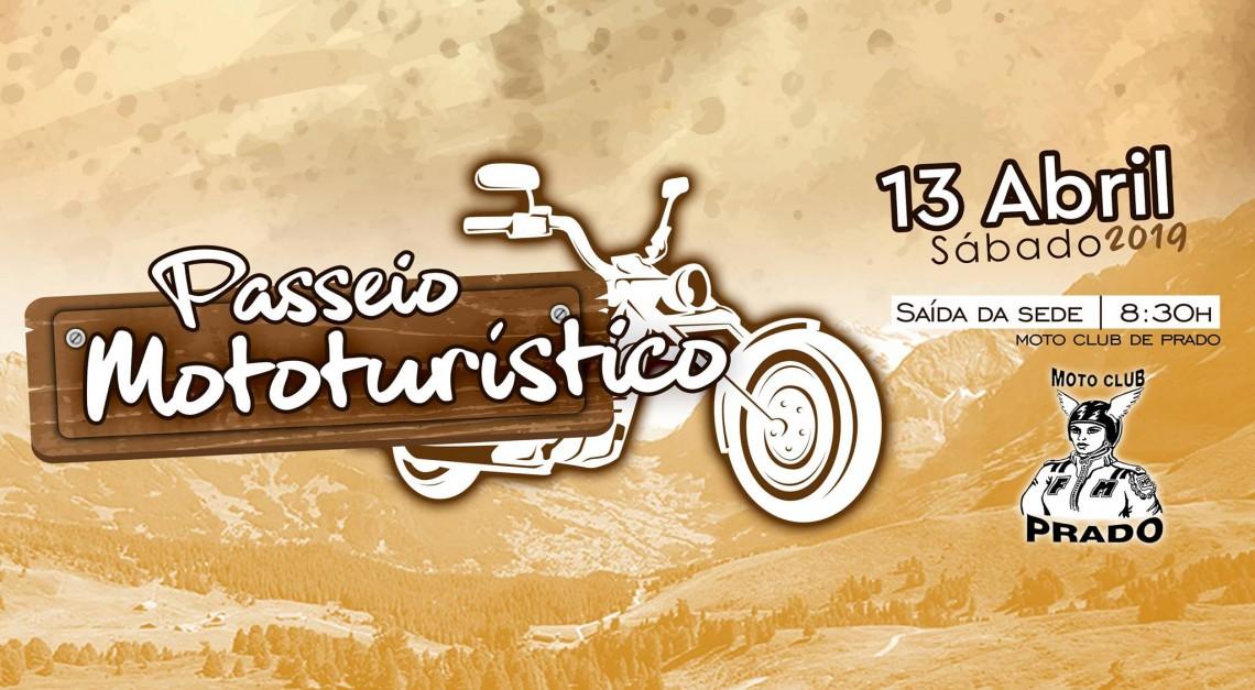 13 de abril. Boa-disposição e muita beleza natural no Passeio Turístico do Moto Club de Prado!