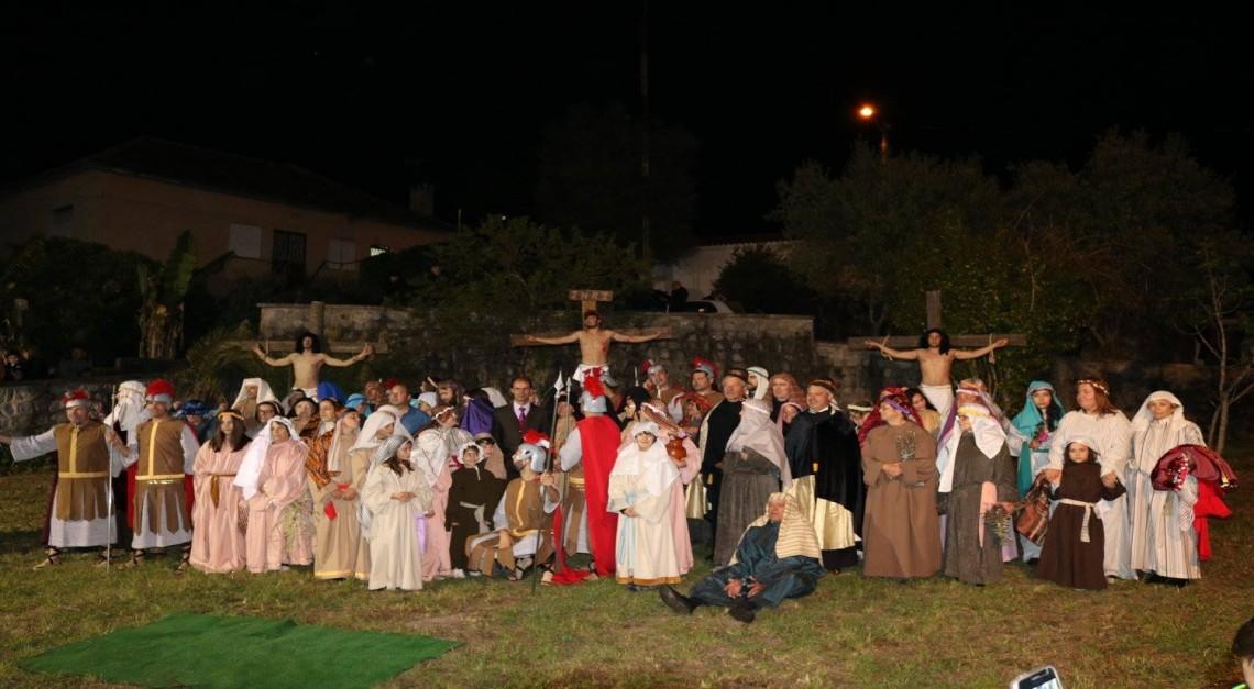 Recriação dos últimos passos de Jesus na Via-Sacra de Prado