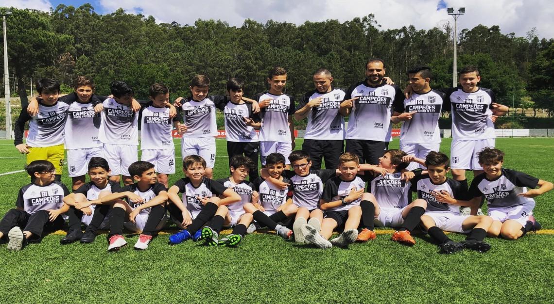 Infantis Fut.9 do GD Prado conquistaram o campeonato!