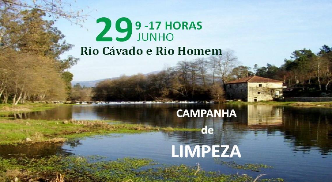 Ação de limpeza das margens dos rios Cávado e Homem marcada para 29 de junho