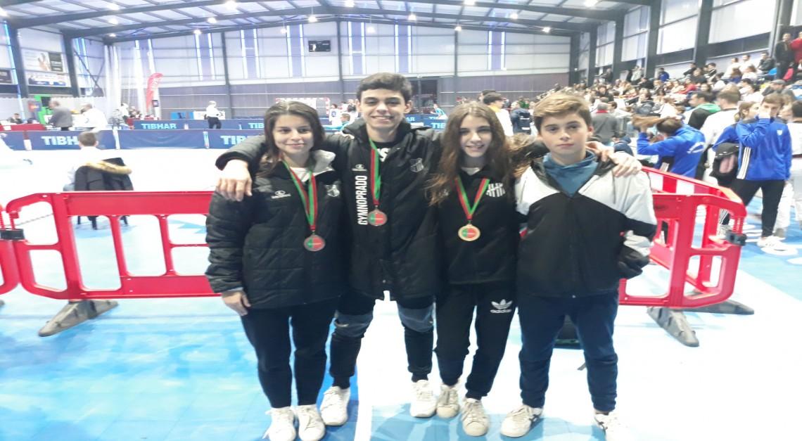 Taekwondo GDPradosubiu três vezes ao pódio nos Campeonatos de Portugal