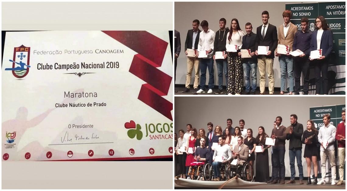 CN Prado distinguido na Gala dos Campeões de Canoagem