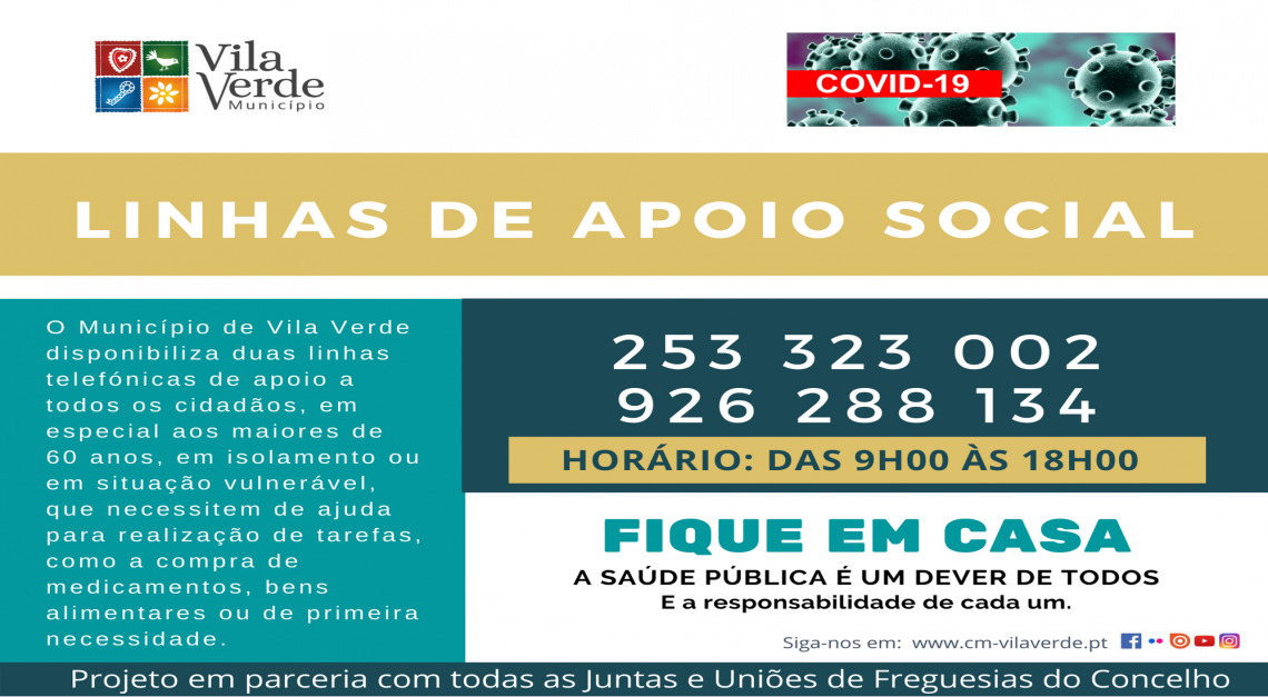 Medidas de apoio social para idosos e pessoas vulneráveis no concelho de Vila Verde