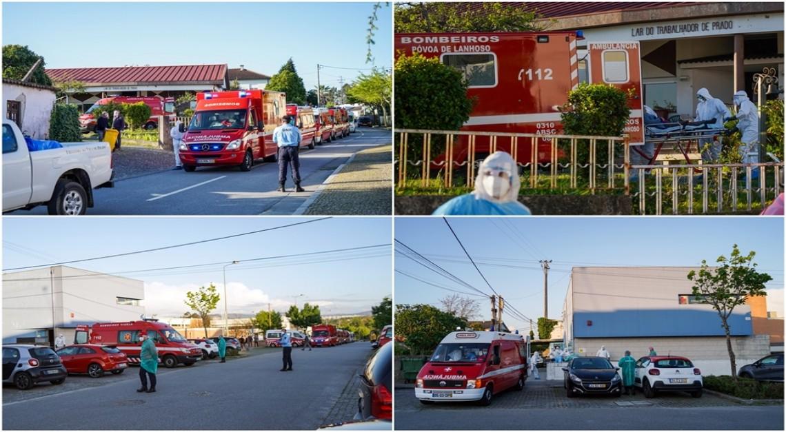 COVID-19. Utentes do Lar do Trabalhador transferidos temporariamente para o Centro Comunitário de Prado